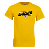 Gold T Shirt-Slanted Apaches