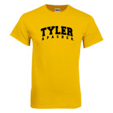 Gold T Shirt-Arched Tyler Apaches