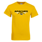Gold T Shirt-Apaches Football Flat