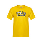 Youth Gold T Shirt-Tyler Apaches Arched