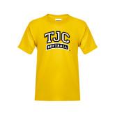 Youth Gold T Shirt-Softball
