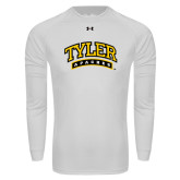 Under Armour White Long Sleeve Tech Tee-Tyler Apaches Arched