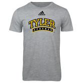 Adidas Sport Grey Logo T Shirt-Tyler Apaches Arched