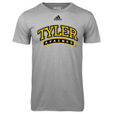 Adidas Climalite Sport Grey Ultimate Performance Tee-Tyler Apaches Arched