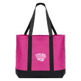 Tropical Pink/Dark Charcoal Day Tote-Official Logo