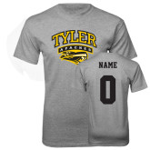 Grey T Shirt-Official Logo, Custom Tee w/ Name and #