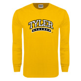 Gold Long Sleeve T Shirt-Tyler Apaches Arched