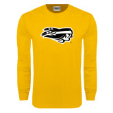 Gold Long Sleeve T Shirt-Apache Head