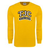 Gold Long Sleeve T Shirt-TJC Apaches Arched