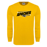 Gold Long Sleeve T Shirt-Slanted Apaches