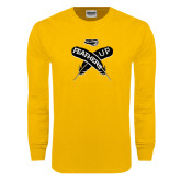 Gold Long Sleeve T Shirt-Feathers Up