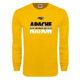 Gold Long Sleeve T Shirt-Apache Nation