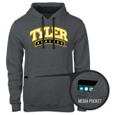 Contemporary Sofspun Charcoal Heather Hoodie-Tyler Apaches Arched