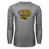 Grey Long Sleeve T Shirt-Official Logo