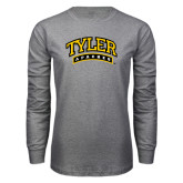 Grey Long Sleeve T Shirt-Tyler Apaches Arched