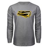 Grey Long Sleeve T Shirt-Apache Head