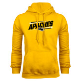 Gold Fleece Hoodie-Slanted Apaches