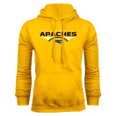 Gold Fleece Hoodie-Apaches Football Flat