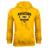 Gold Fleece Hoodie-Tyler Apaches Baseball Diamond
