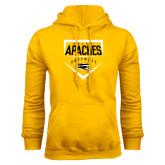 Gold Fleece Hoodie-Tyler Apaches Softball Plate