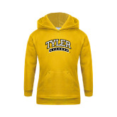 Youth Gold Fleece Hoodie-Tyler Apaches Arched