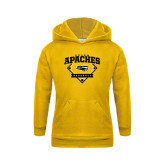 Youth Gold Fleece Hoodie-Tyler Apaches Baseball Diamond