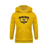 Youth Gold Fleece Hoodie-Tyler Apaches Baseball Diamond