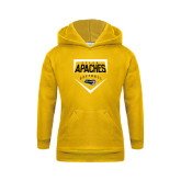 Youth Gold Fleece Hoodie-Tyler Apaches Softball Plate