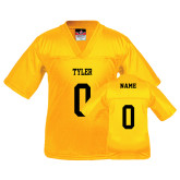 Youth Replica Gold Football Jersey-Personalized