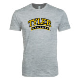 Next Level SoftStyle Heather Grey T Shirt-Tyler Apaches Arched