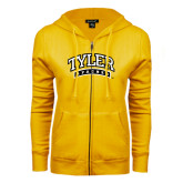 ENZA Ladies Gold Fleece Full Zip Hoodie-Tyler Apaches Arched
