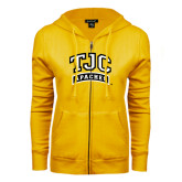 ENZA Ladies Gold Fleece Full Zip Hoodie-TJC Apaches Arched