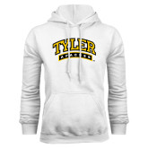 White Fleece Hoodie-Tyler Apaches Arched