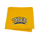 Gold Sweatshirt Blanket-Tyler Apaches Arched