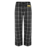 Black/Grey Flannel Pajama Pant-Tyler Apaches Arched