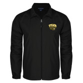 Full Zip Black Wind Jacket-Official Logo