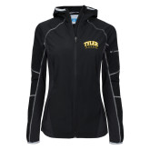 Columbia Ladies Sweet As Black Hooded Jacket-Tyler Apaches Arched