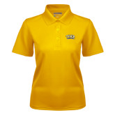 Ladies Gold Dry Mesh Polo-Tyler Apaches Arched