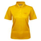 Ladies Gold Dry Mesh Polo-Apache Head