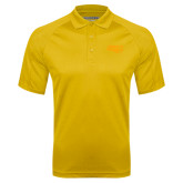 Gold Textured Saddle Shoulder Polo-Apache Head