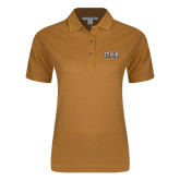 Ladies Easycare Gold Pique Polo-Tyler Apaches Arched