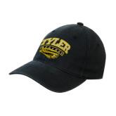 Black OttoFlex Unstructured Low Profile Hat-Official Logo