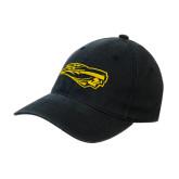 Black OttoFlex Unstructured Low Profile Hat-Apache Head