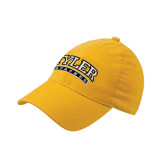 Gold Flexfit Mid Profile Hat-Tyler Apaches Arched