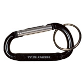 Black Carabiner with Split Ring-Tyler Apaches Engraved