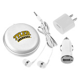 3 in 1 White Audio Travel Kit-Tyler Apaches Arched
