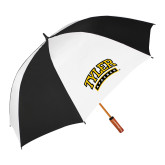 62 Inch Black/White Umbrella-Tyler Apaches Arched