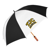 62 Inch Black/White Umbrella-TJC Apaches Arched