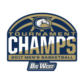 Medium Decal-Big West Mens Basketball Tournament Champions, 8 inches Wide
