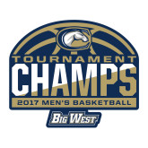 Large Decal-Big West Mens Basketball Tournament Champions, 12 inches Wide